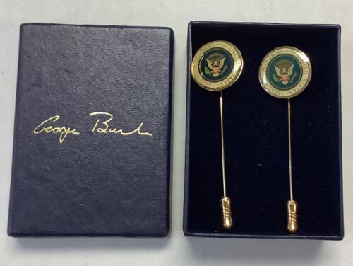 GEORGE W. BUSH Seal of the President of the United States Tie Pin Lot of 2