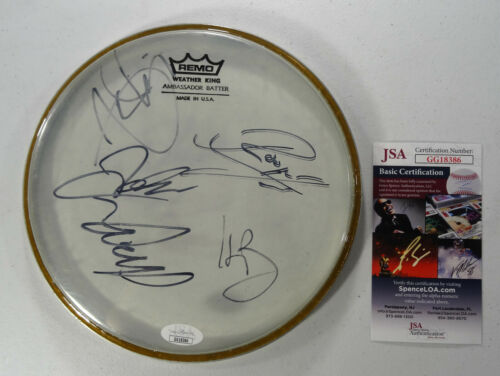 SIGNED CHILDREN OF BODOM AUTOGRAPHED ORIGINAL 5 REMO DRUMHEAD JSA # GG18386