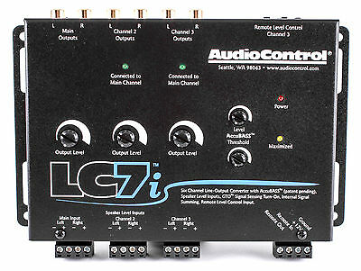 NEW AUDIOCONTROL LC7i BLACK 6 CHANNEL LINE OUT CONVERTER WITH BASS RESTORATION