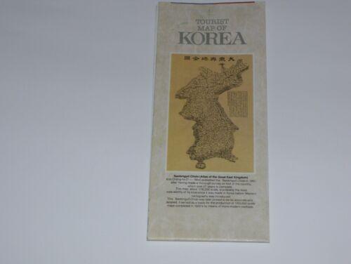 Tourist Map Of Korea Printed In Republic Of Korea 1987 Asia