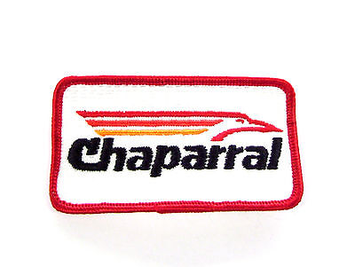 """New Vintage Embroidered ~ Chaparral ~ 2""""x 3-1/2"""" Snowmobile Patch  (NOS)"""