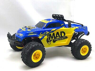 JJ R/C Mad Man  1/12th Scale Electric RTR RC Blue TRUCK