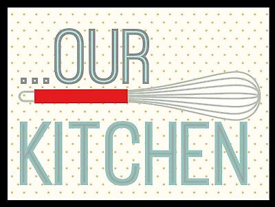 Our Kitchen, Retro metal Sign/Plaque Wall vintage / Kitchen Gift