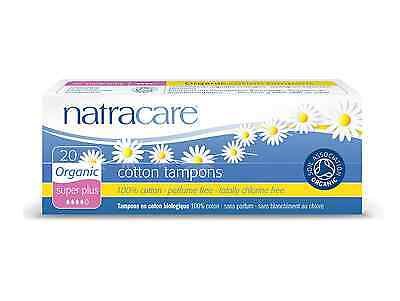 Natracare Organic Cotton Tampons, Super Plus 20 Ea (pack ...