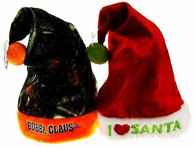Set 2 Childs Christmas Hats Kids Bubba Claus Jr Camo Orange I Love Santa Holiday