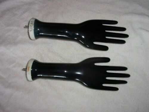 Vintage Pair Ceramic Porcelain Glove Ring Display - Jewelry Store - Steampunk