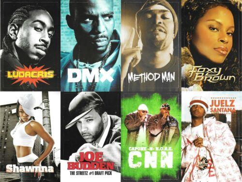 Original 2003-2004 Def Jam Trading Card Style Promo ClingZ Stickers RARE RIP DMX