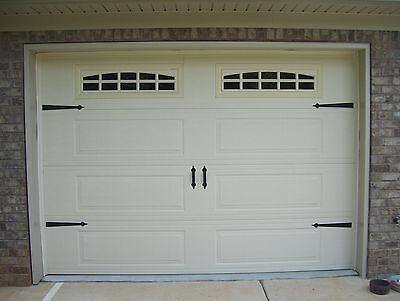 - Deluxe Garage Door Decorative Hardware Kit - Hinges & Handles - Includes Screws