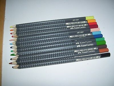 Lot of 12 Different Assorted Faber Castell Art Grip Color Coloring Pencils (Faber Castell Colored Pencils)