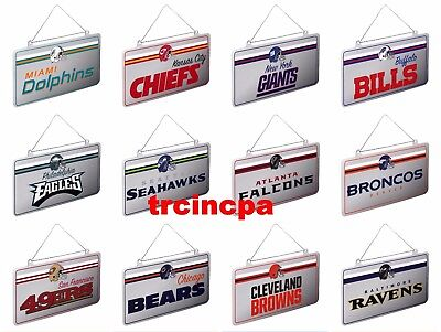 Forever Collectibles-NFL-Metal License Plate Christmas Ornament - Pick Your Team Metal Team Plate