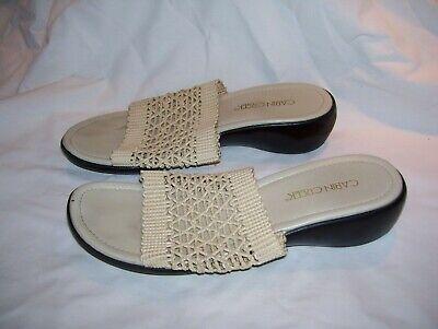 "Womens - Cabin Creek ( Beige ) Summer  Sandals - Sz. 8  - 2"" Heels - Minor  wear for sale  Reidsville"