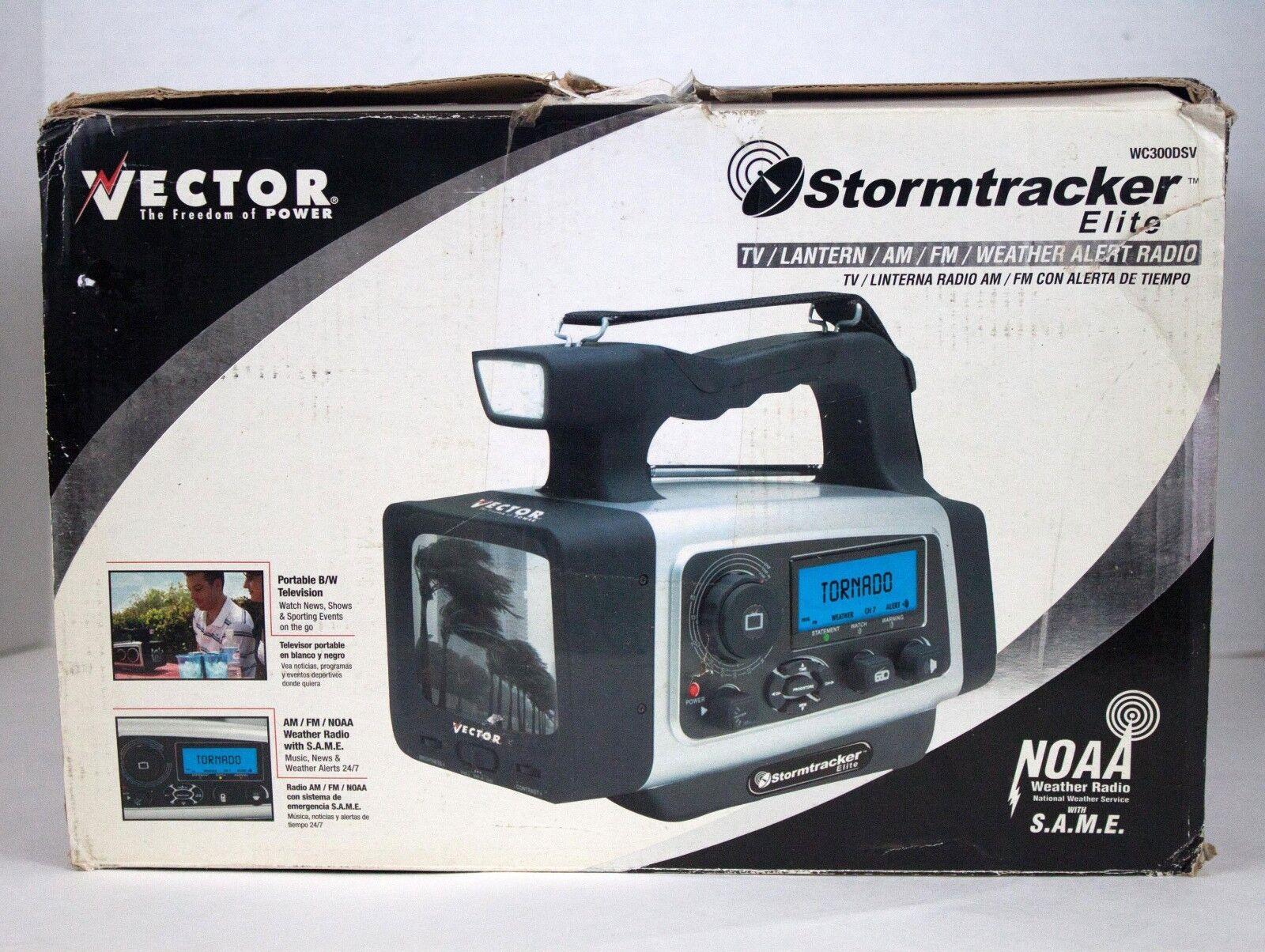 Vector Stormtracker Elite wc300dsv, TV, Latern, AM/FM Radio, Weather Alert Radio
