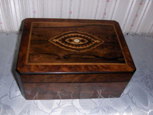 Vintage Inlaid Wooden Box w/ Hinged Lid