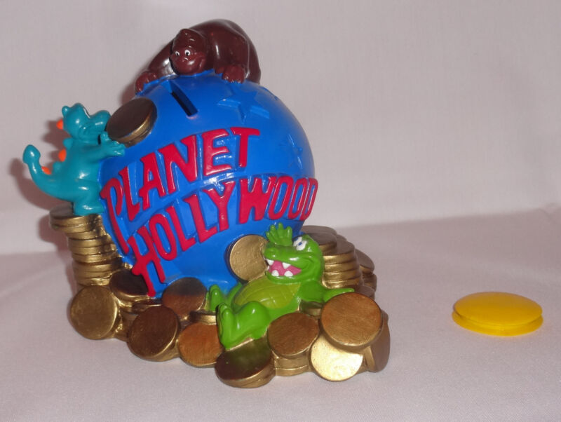 Planet Hollywood Coin Bank GREAT SHAPE