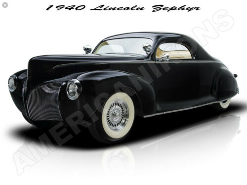 1940 Lincoln Zephyr Customized New Metal Sign: Fully Restored