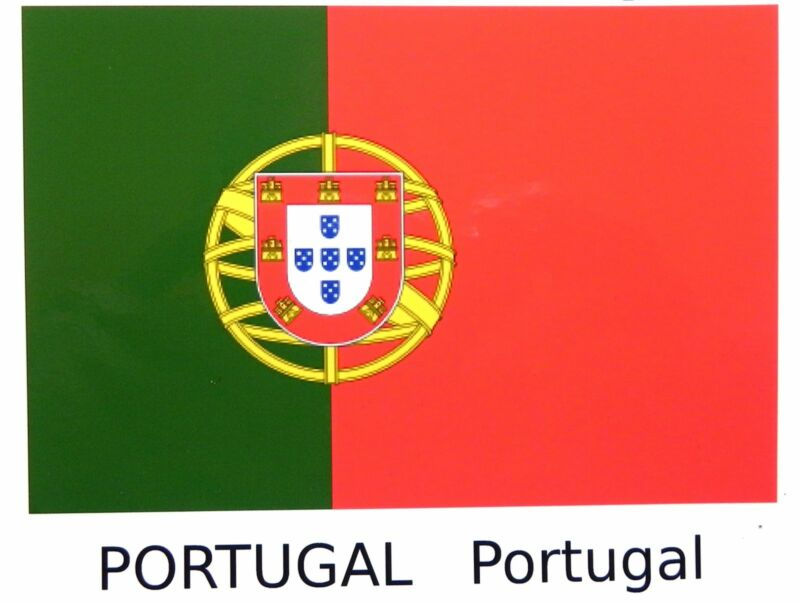 "Portugal flag water-slide transfer 135 x 85 mm (5"" x 3.1/4"")"