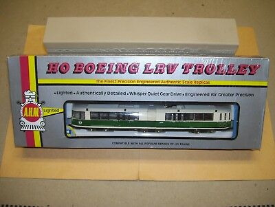 Rare Ahm Boston Mbta  Green Line  Boeing Lrv Trolley In Double Boxes