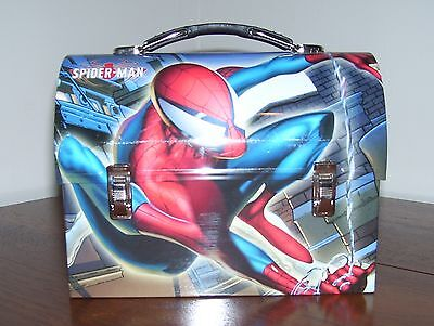 NEW Spiderman Metal Domed Lunchbox Lunch box Marvel Comics m Red X