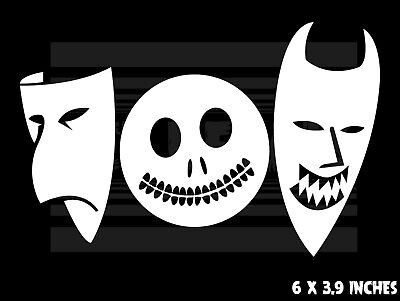 The Nightmare Before Christmas - Lock Shock and Barrel - Masks -  decal sticker - Lock Shock And Barrel Masks