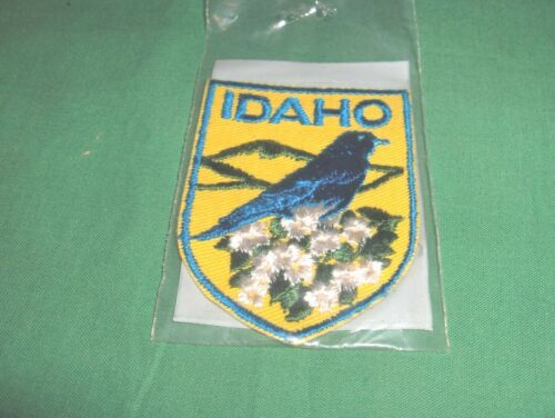 #728* - EMBROIDERED PATCH TRAVEL SOUVENIR - STATE OF IDAHO - STATE BIRD & FLOWER