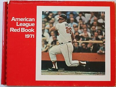 1971 American League Red Book Stats Ballparks Rosters Awards Boog Powell Cover