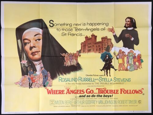 Where Angels Go Trouble Follows ORIGINAL Quad Movie Poster Rosalind Russell 1968