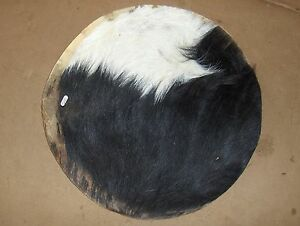 14 goat skin djembe drum head w fur medium thick skin 14 inch ebay. Black Bedroom Furniture Sets. Home Design Ideas