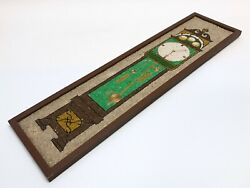 Vintage Mid Century Modern Pebbles Mosaic Wall Picture Grandfather Clock