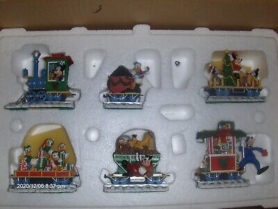 Mickey's 6 Piece Christmas Train Danbury Mint Disney Figure Set CERTIFICATE