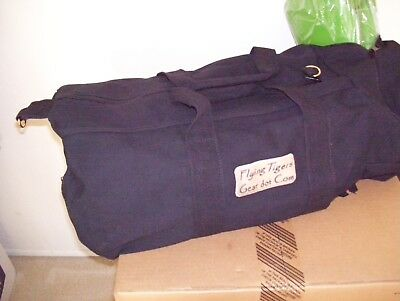 "Military Type black Cotton Canvas 19"" Equipment Duffle Bag w/ Strap"
