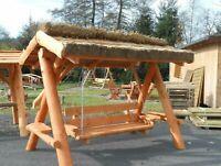 Hollywoodschaukel aus massiven Holzstämmen ! mit Reetdach Thüringen - Schmalkalden Vorschau