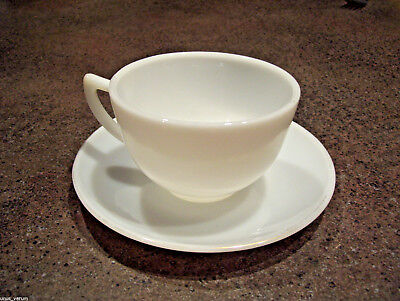 MILK GLASS CORNING DINNERWARE CUP AND SAUCER MADE IN USA