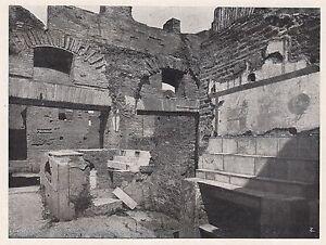 D2087-Ostia-antica-Interno-di-una-bottega-Stampa-1923-vintage-print