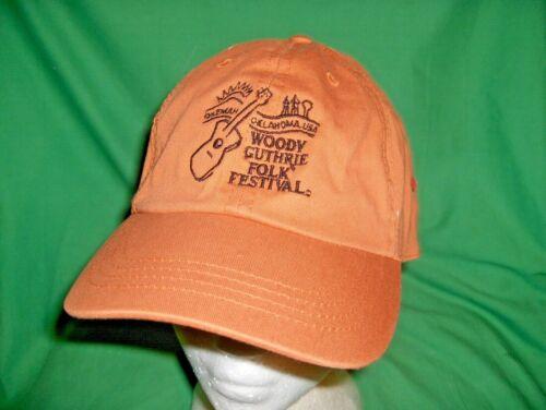 "#3138C - WOODY GUTHRIE FOLK FESTIVAL HAT, CAP - OKEMAH, OKLAHOMA - ""WOODYFEST"""