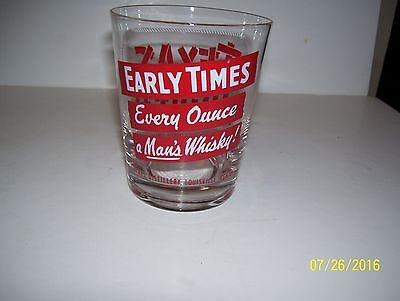Early Times Every Ounce a Man's Whiskey Texas Jigger Glass