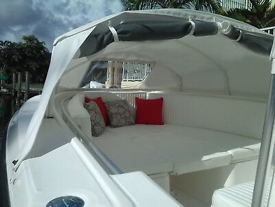 Angler shade center console boat BOW DODGER, boat tent, boat cover canopy MEDIUM