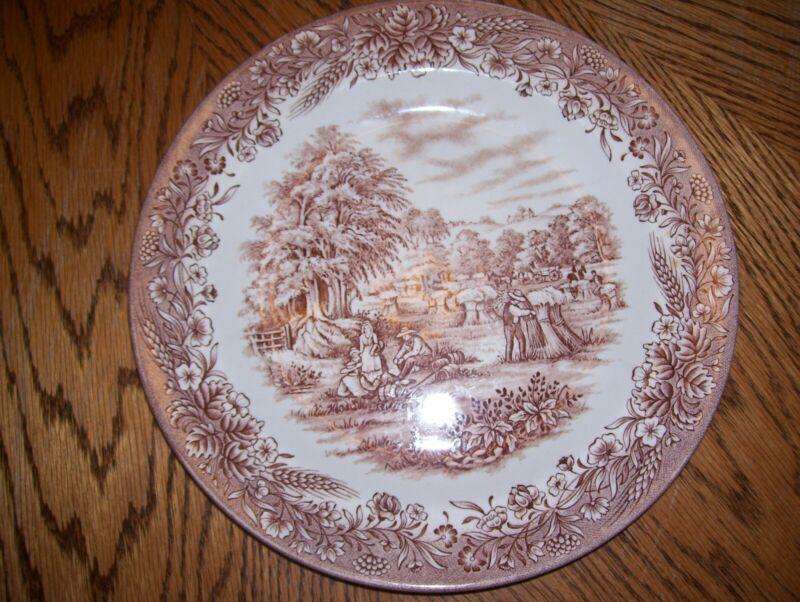 """Churchill Currier & Ives """"Harvest"""" Dinner Plate 10.25"""" - Heritage Mint LTD"""