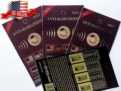 3x Anti Radiation Patch Sticker 99% Radiation Protection Gold-24K Apple Design for sale  Shipping to India
