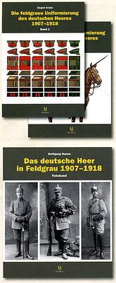 Die feldgraue Uniformierung des deutschen Heeres 1907-1918  Band 1-3 (J. Kraus)