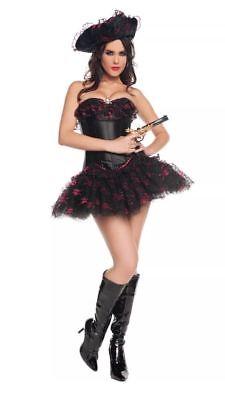 Starline Sexy Seven 7 Seas Pirate Halloween Costume New S Small Corset Skirt Hat](Halloween Costumes News)