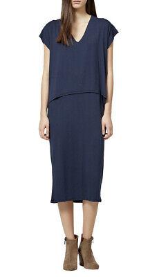 Selected Femme Galina Layered Dress - Navy / UK M