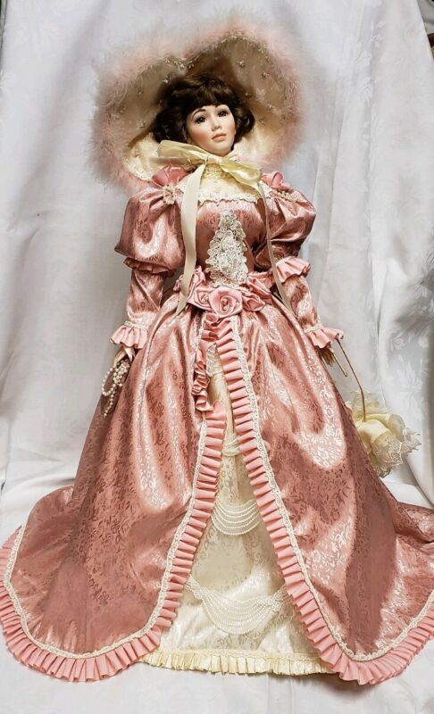 """American Classics EVA DAWN Porcelain Doll Hand Crafted 32"""" Tall"""