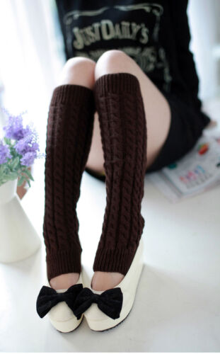 US SELLER Women Favorite Thigh High Lace Leg Warmer Sock Funky Winter Boot