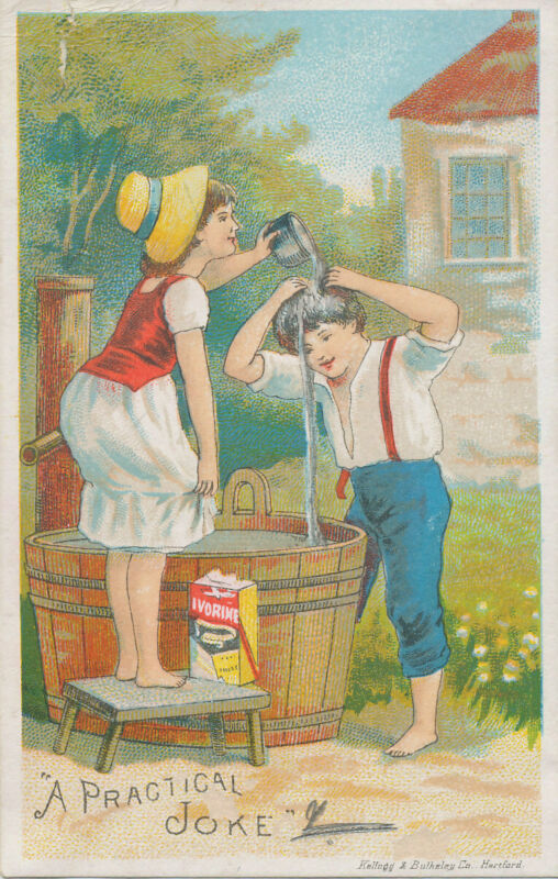 D2552 VICTORIAN TRADE CARD IVORINE SOAP CO