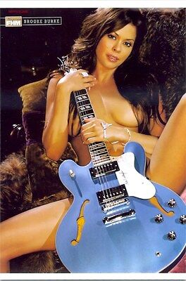 Brooke Burke   Nude With Guitar Between Her Legs