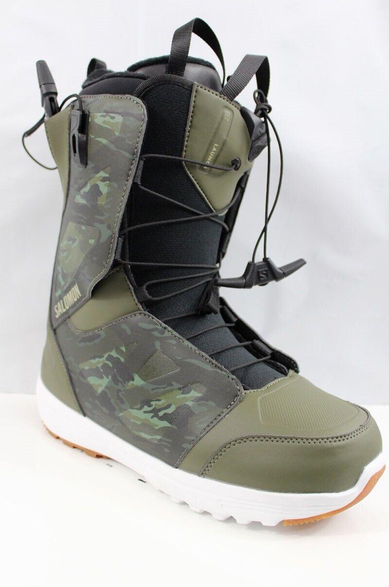Salomon Launch Snowboard Boots Men's Size 9.5 Camo/Dark Oliv