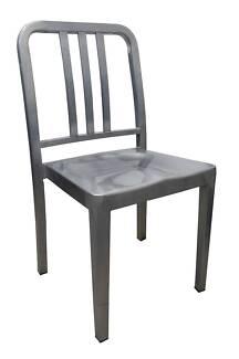 Navy US Emeco Replica Metal Chair - Galvanised Look