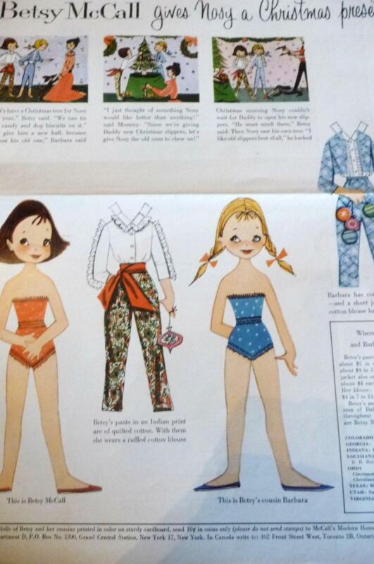 BETSY McCALL PAPER DOLLS UNCUT Magazine Embroidery Book Calendar Trips 50+ pgs