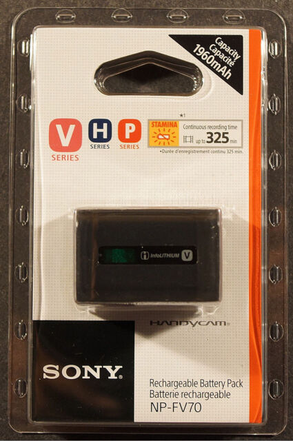 Genuine Sony NP-FV70 Li-Ion Original Battery FV100 FV70 FV50 FV30 SR21 SR68 SX45