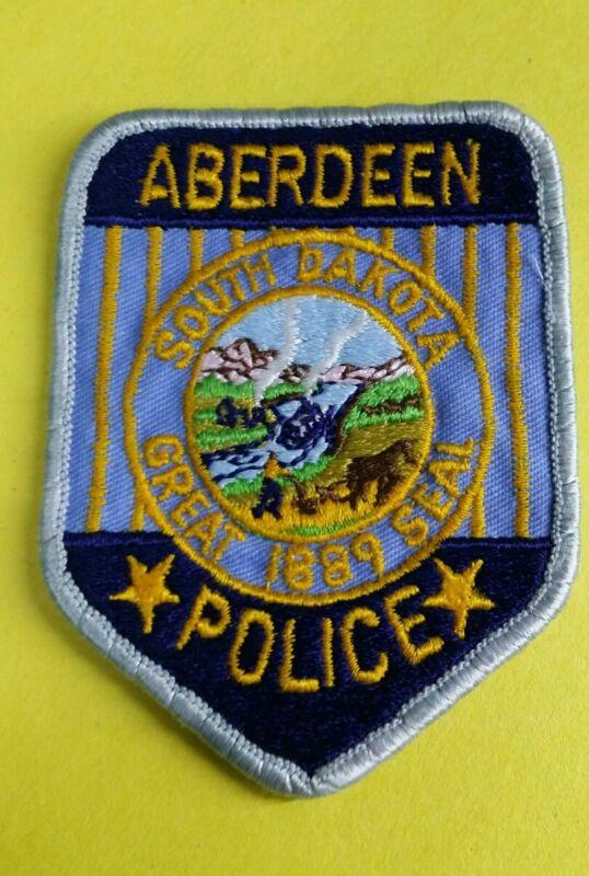ABERDEEN, SOUTH DAKOTA POLICE SHOULDER PATCH SD